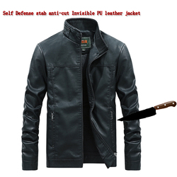Self-Defense Anti-Cutting Stab-resistant men jacket, flexible hacking invisible Military tactics police Fbi protective Clothing