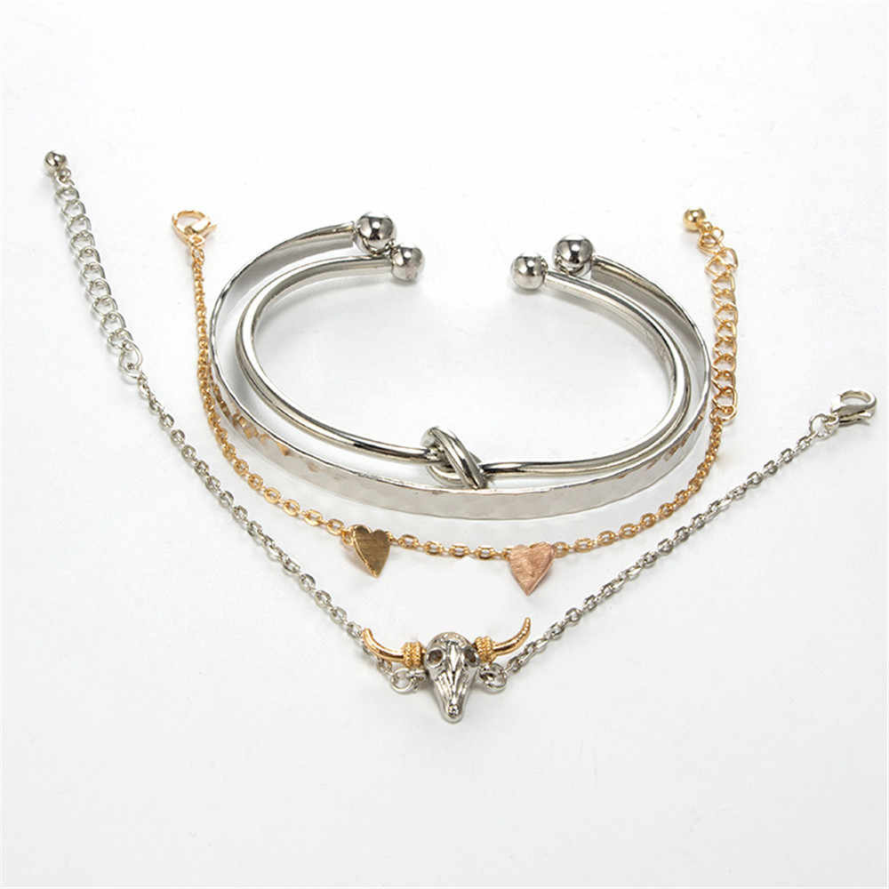 Мода MLING 2 цвета в форме сердца браслет для женщин новые вечерние ювелирные изделия