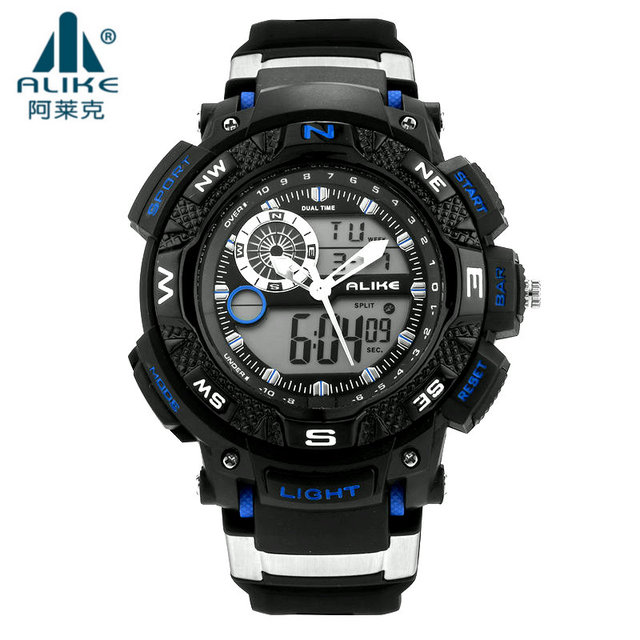 2016 Luxury Alike Men Watches Silicone Analog Digital LED s shock Men's Sports Quartz Military Wrist Watch Relogio Masculino