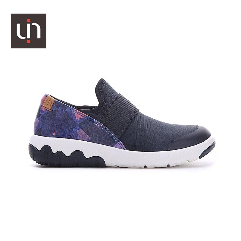 UIN Zaans/Дизайнерские повседневные кроссовки из микрофибры для детей; Детская обувь без застежки; Мягкая обувь на плоской подошве для мальчико