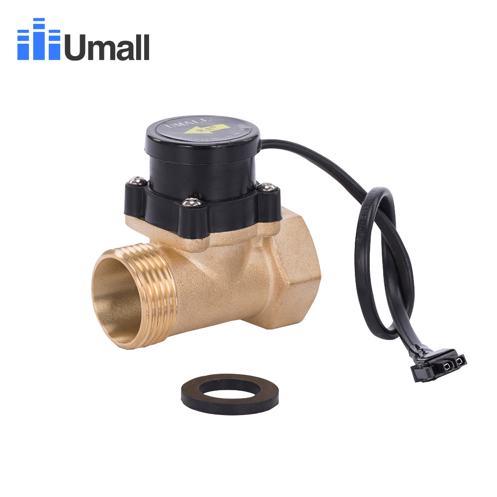 HT800 One 1 Inch Water Pump Flow Sensor Switch Liquid Booster Solar Heater Brass Magnetic Pressure Automatic Control Valve Part