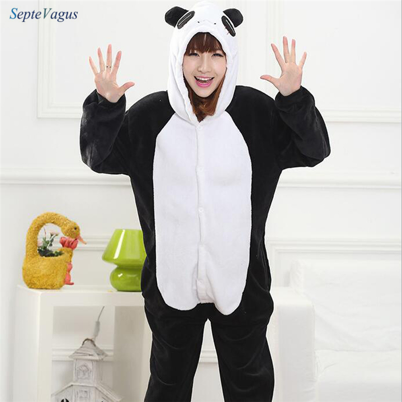 Adult Onesie Pajama Women Pajamas Adults Cosplay Cartoon Animal Onesies Sleepwear Flannel Wholesale Christmas Panda