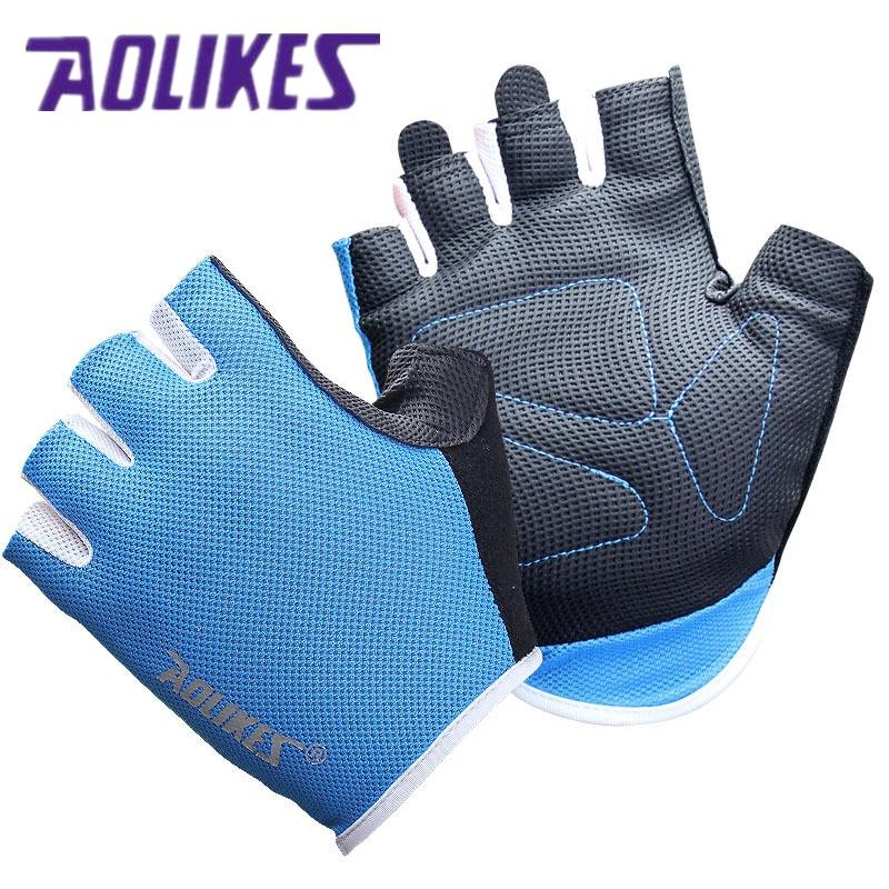 AOLIKES 1 Pair Women Men Gym font b Gloves b font Body Building Training Sport Fitness
