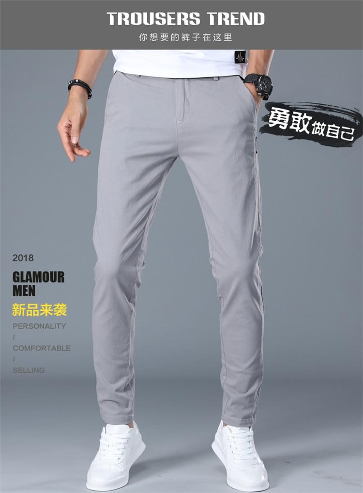 HTB1MsNabo rK1Rjy0Fcq6zEvVXav Brand Men Pants Casual Mens Business Male Trousers Classics Mid weight Straight Full Length Fashion breathing Pant