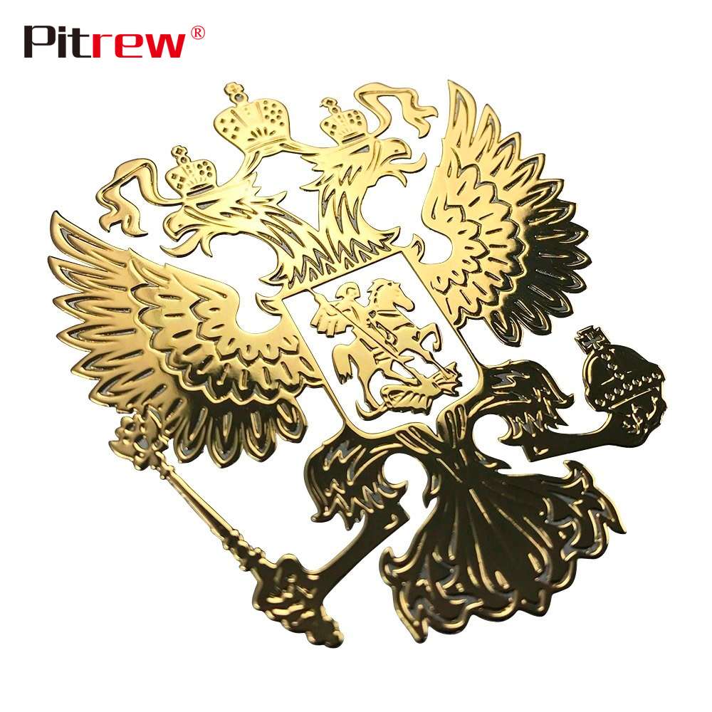 Coat of Arms of Russia Nickel Car Sticker Decals Russian Federation Eagle Emblem Stickers for Car Styling Mobile Phone Sticker