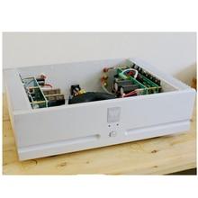 QUEENWAY Amplificador de Potencia de Canal Dual M8 Plata Pura Amplificador de Potencia 430*315*120mm