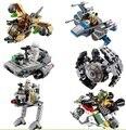 1 шт. ЛЕПИН Star Wars Блоки Micro Истребители TIE Fighter Работоспособна Цифры Совместимо Legoelieds Starwars Microfighters