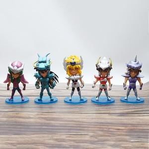 5pcs/set Saint Seiya Myth Cloth Shiryu Shun Hyoga Jabu action figure PVC toys collection doll anime cartoon model(China)