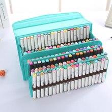 Multi camada escola lápis caso grande capacidade mark caneta bolsa bolsa bolso escova para suprimentos de arte