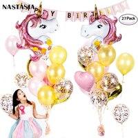 NASTASIA Unicorn Balloons Set 40 inch Unicorn Party Supplies birthday decoration kids baby shower gender reveal girls gifts