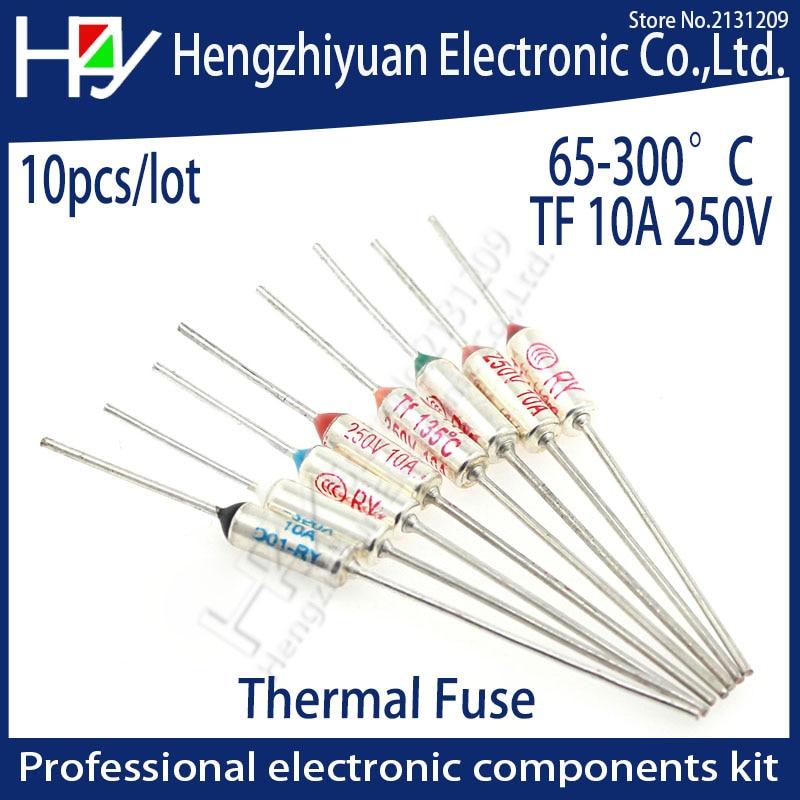 цена на TF Thermal Fuse 10A 250V Temperature 65C 85C 100C 105C 100C 113C 120C 130C 152C 165C 167C 172C 185C 192C 200 216C 240C 280C 300C