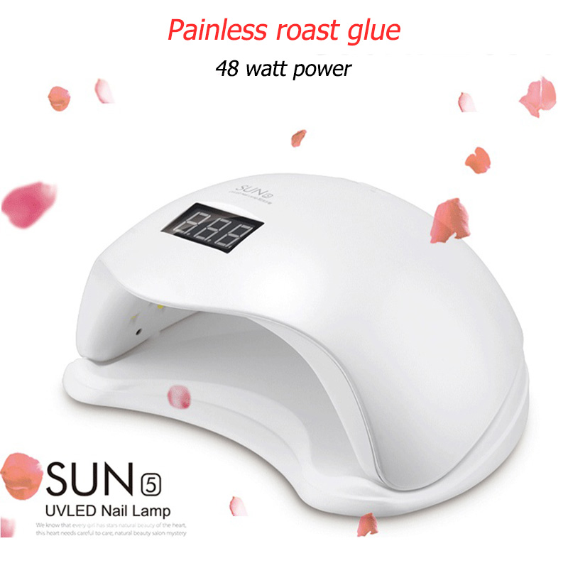 SUN5 48W LED UV Lamp Nail Dryer for Nail Curing All Gels Polish For Manicure Sun Light Ice Lamp Hybrid Nail Art Machine Tool цена