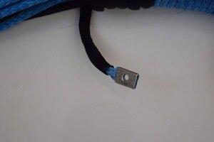 """Image 2 - ブルー 3/8 """"* 100ft合成ウインチロープ、atvウインチケーブル、牽引ロープ車、ケブラーウインチロープ、オフロードロープ"""