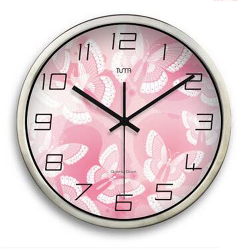 decorative large silent wall clock modern beautiful home decor design klokken parede stylish metal big wall