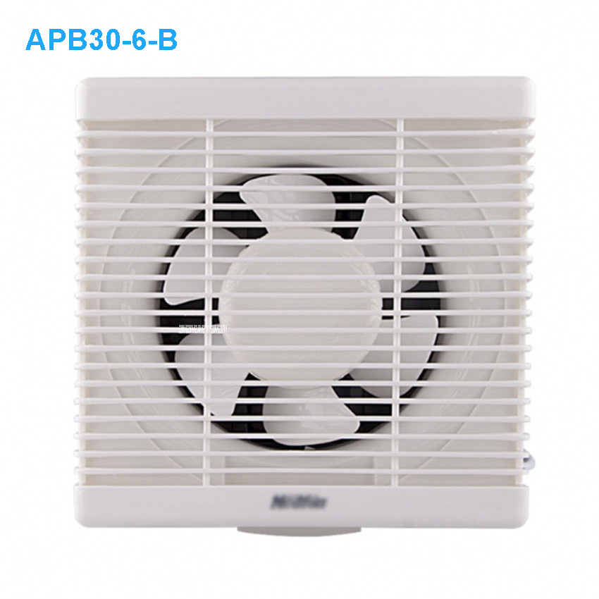 APB30 6 B Ventilator Fan Bathroom Window Exhaust Fan Toilet Bathroom Wall Silent Exhaust Fan 14