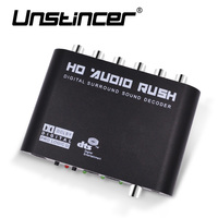 5 1 Channel AC3 DTS Digital Audio Converter Gear Surround Sound Rush Decoder HD Players For