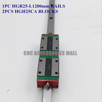 1pc Original HIWIN Linear Guide HGR25 L 1200mm rail with 2pcs HGH25CA HIWIN Linear Bearing Carriage