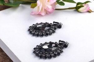 Image 4 - Женская свадебная тиара в стиле барокко, с белыми/черными кристаллами