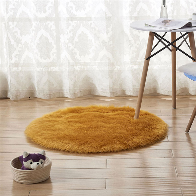 Wool Imitation Sheepskin Rugs Faux Fur Non Slip Bedroom Shaggy Carpet Mats Modern Carpets For Living Room Fashion A26@Z (19)