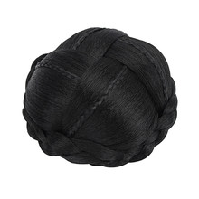 Bun Cover Braided Chignon Hairpiece Black Hair Buns for Women Synthetic Clip In Hair Bun Covers Cheveux Chignons Accessoires OEM(China)