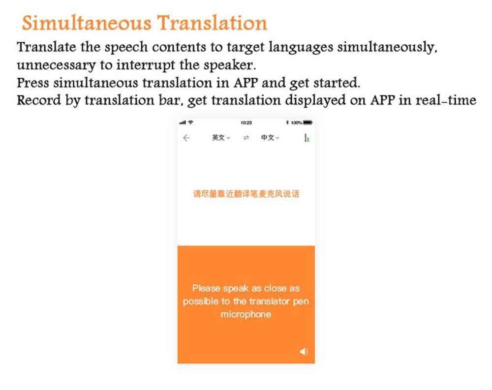 Pocket Language Translator Voice Languages Translation Spanish English  French Russian Real-time Multi Instant Translator Device