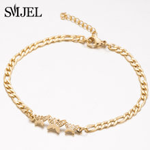 SMJEL Trendy Brand New Fashion Butterfly Bracelet for women Ladies Animal Strand Bracelets Gold Jewelry Accessories Dropshipping(China)