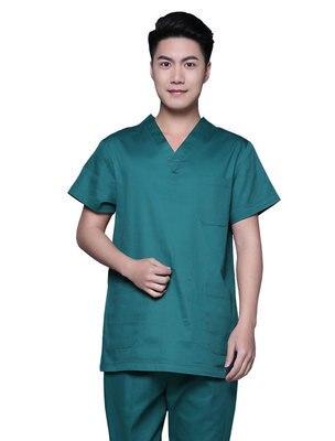 New Plus Size 100KG Men's V Neck Summer Nurse Uniform Hospital Medical Scrub Set Clothes Short Sleeve Cotton Surgical Scrubs