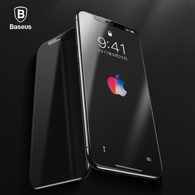 Baseus 3D 0.23mm Matte Screen Protector For iPhone X Soft Edge 9H Tempered Glass For iPhone 10 Toughened Protective Glass Film