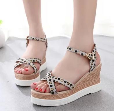 66fcef19215 2015 summer female wedges sandals female high heeled platform shoes fancy  women s platform open toe shoes ethnic trend in black-in Women s Sandals  from ...