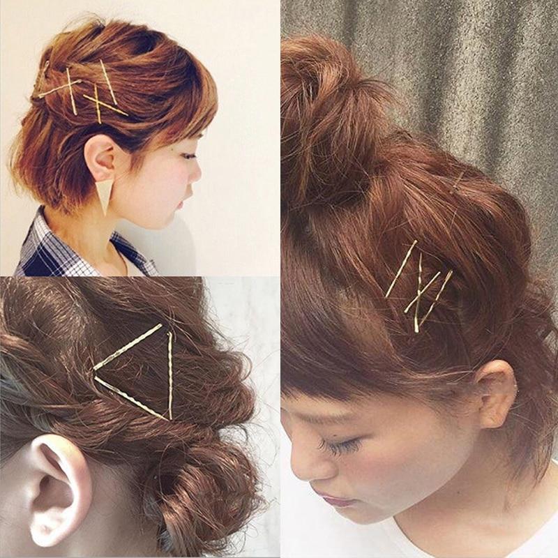 Fashion 2 Pcs Women Girls Hot Sale New Retro Golden Hairpin Popular Hair Accessories