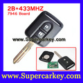 Free shipping(1 pcs) 2 buttons remote key 433 mhz for Nissan Elgrand X-TRAIL NAVARA MICRA PRIMERA remote key 433 mh