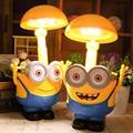 LED Rechargeable Minions Desk Lamp Children Light Fold Table Lamp Piggy Bank For Living Room Bedroom Study Night Light