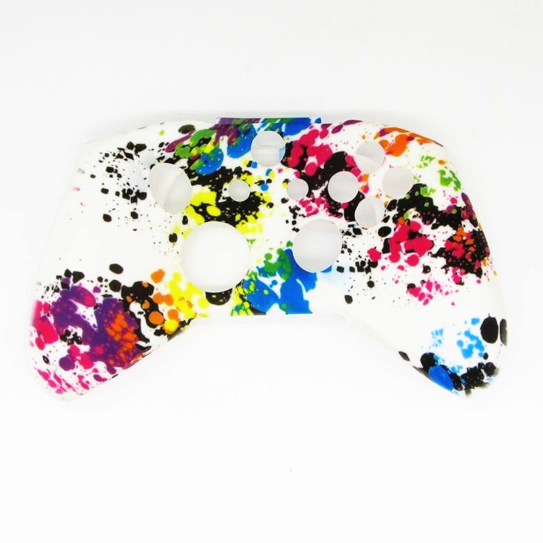 Купить с кэшбэком For Xbox one X One Slim ONES Gamepad Protect Camouflage Camo Controller Silicone Gel Guards Soft sleeve Skin Grip Cover Case