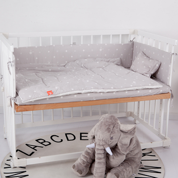 Baby Bumper Bed Protector Toddler Infant Crib Bed Bumper 4Pcs Baby Bedding Sets Including Fitted Sheet Pillow Quilt Bumper promotion 6pcs fish baby bedding set curtain berco crib bumper baby bed set bumper sheet pillow cover