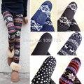 2014 Nuevas Mujeres Calientes Nórdicos Ciervos del Copo de nieve de Punto Pantalones de Las Polainas de la Señora Elástica Leggings Venta Caliente de Múltiples colores Envío gratis