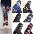 2014 das Mulheres Novas Quentes Nórdicos Veados Snowflake Malha Leggings Pants Elastic lady Leggings Venda Quente Várias cores Livre grátis