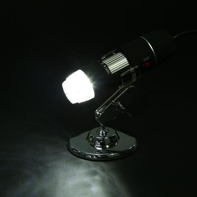 Portable USB Digital Electronic Microscope 8 LED Magnifier 4