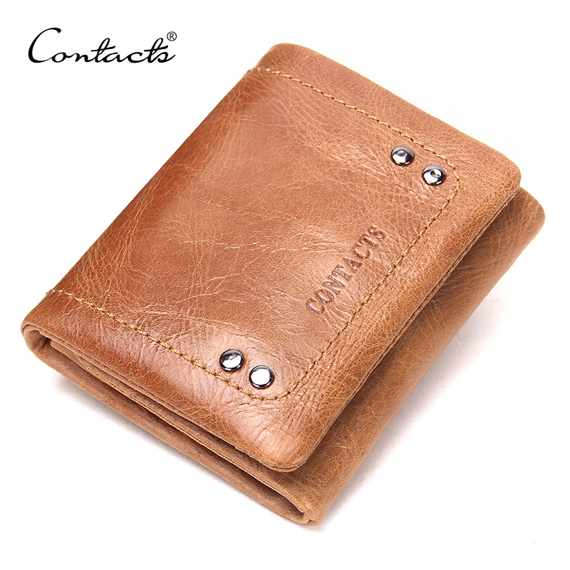 CONTACT'S 2018 New Spring Genuine Leather Wallet For Men/Women High Quality 3 Color Casual Wallets With Coin Bags Design Purse new capacitive touch screen digitizer glass for 10 1 irbis tw55 tablet sensor touch panel replacement free shipping