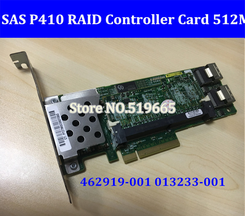 462919-001 013233-001 Array SAS P410 RAID Controller Card 6Gb PCI-E With 512M RAM