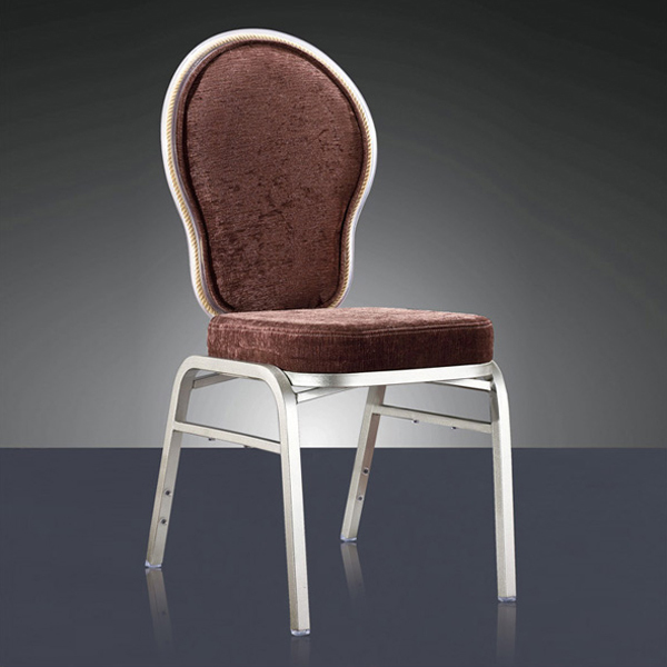 Wholesale Quality Strong Stacking Action Aluminum Dining Chair LQ-L9065