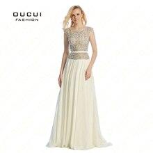 Cap Sleeves abendkleider crystal Louisvuigon Woman Rhinestone robe de soiree Long Prom Evening Dress OL102803