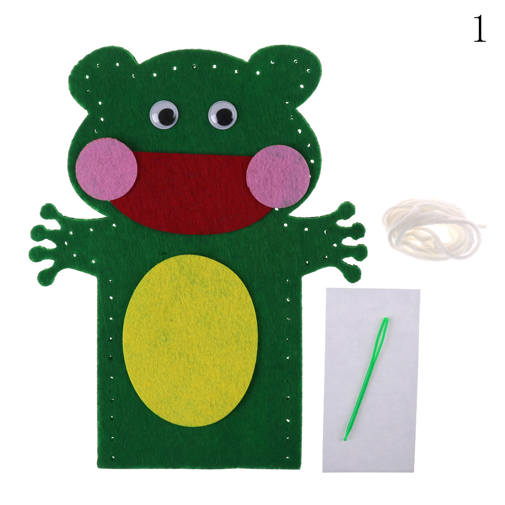 New Design DIY Easy Crafts Non-Woven Cloth Animal Hand Puppet Kids Child Creative Activity DIY Sewing Toys