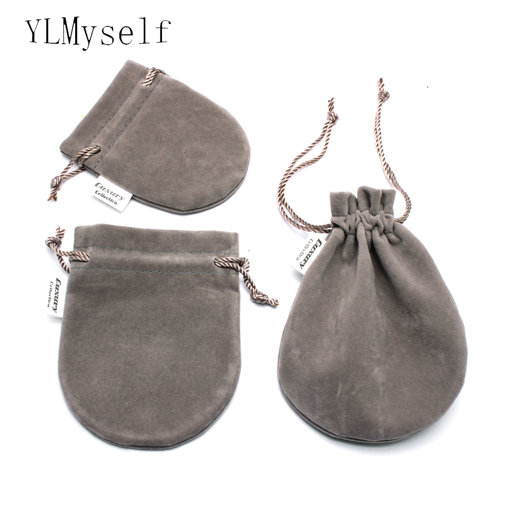 Jewelry Packing Pouches 3 Size (Must Order With Jewelry) High Quality Grey Soft Velvet Pouches For Ring Earrings Penant Bracelet