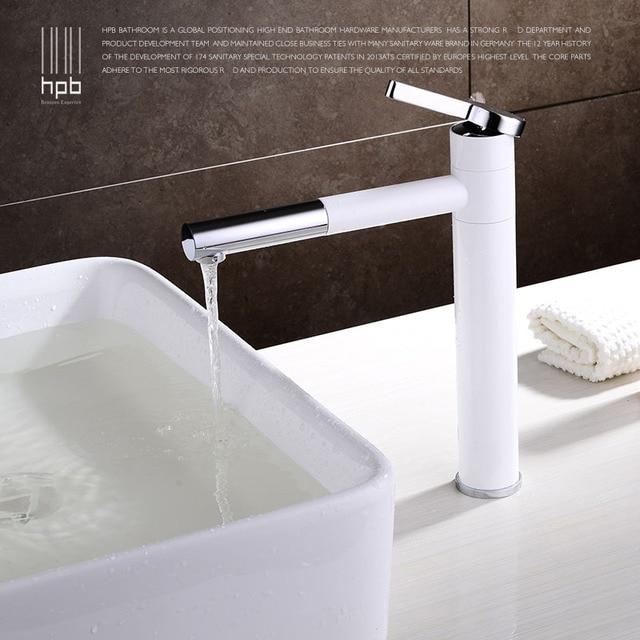 HBP TALL Witte Badkamer Kraan Toilet Wastafel Bar Basin kraan ...