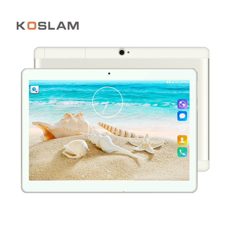 цена на KOSLAM 10 Inch 3G Phone Tablet PC Android 7.0 IPS 1280x800 Screen MTK Quad Core 16GB ROM Dual SIM Card WIFI GPS OTG 10 Phablet