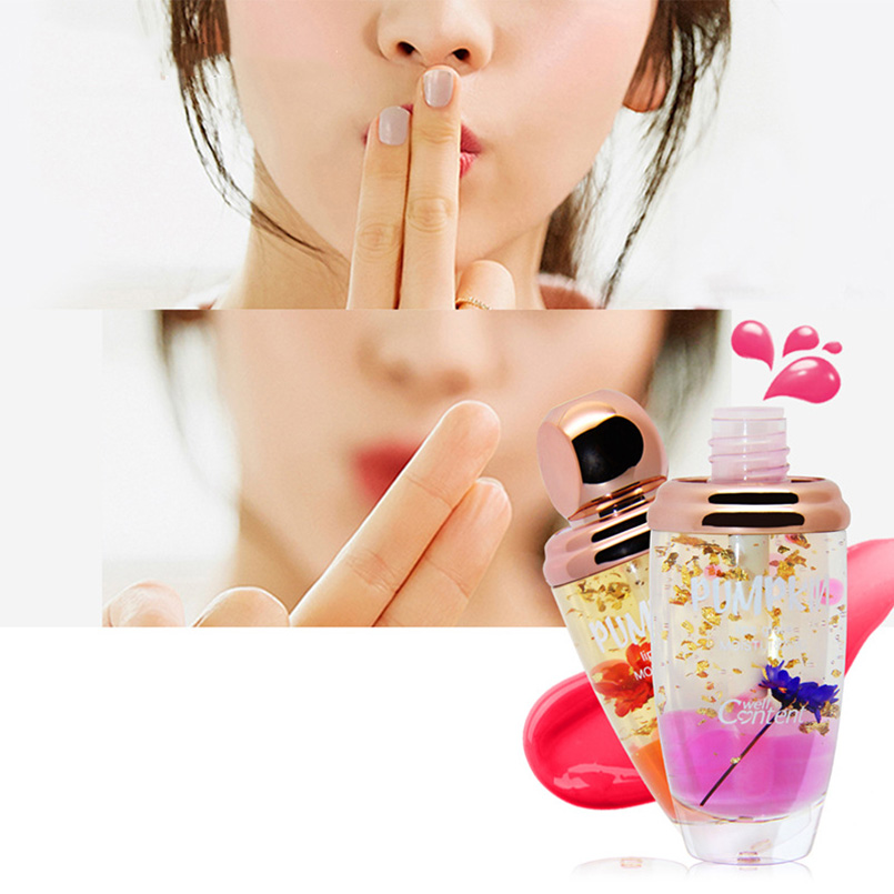 NOVO Brand Lip Makeup Lip Gloss Transparent Temperature Color Changing Flower Liquid Lipstick Moisturizer Lipgloss Beauty Makeup 5