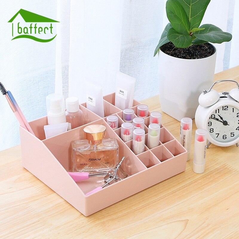 New 16 Grid Mini Makeup Storage Box Cosmetic Case Lipstick Cases Sundries Case Small Objects Box Wholesale Desktop Organizer