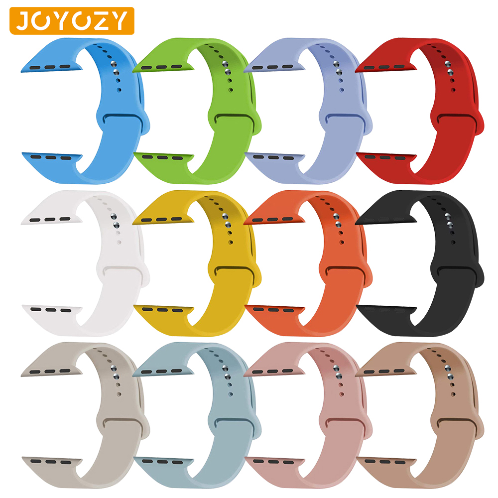 Joyozy Sports Soft Silicone Interchangeable Apple Watch Band 42mm/38mm For Apple Wrist Series 4/3/2/1 Apple Watch Band