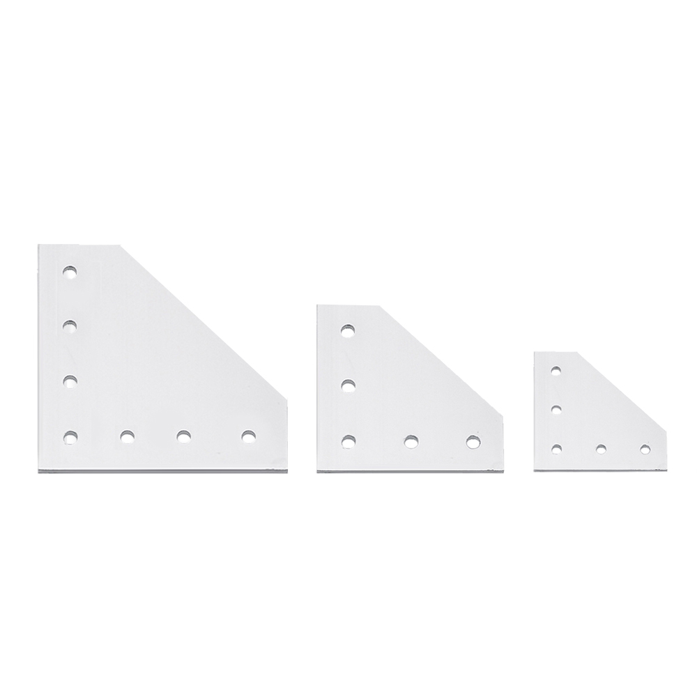 Hot Anodized 90 Degree Joining Plate With 5 OR 7 Holes For EU Standard  2020 OR 3030 Aluminum Profile Slot For Kossel DIY CNC