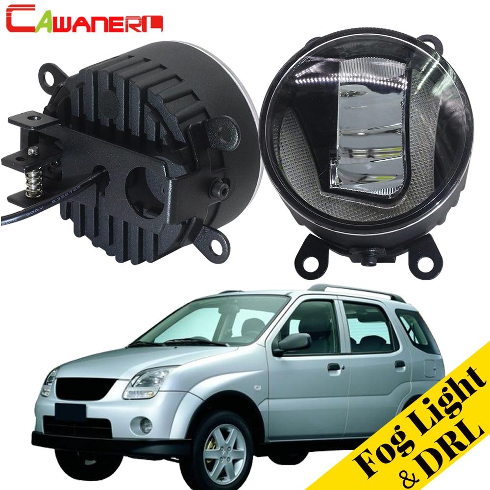 Cawanerl pour Subaru Justy III (G3X) hayon 2003-2008 voiture 2in1 LED antibrouillard + feu de jour DRL blanc 12 V haute luminosité